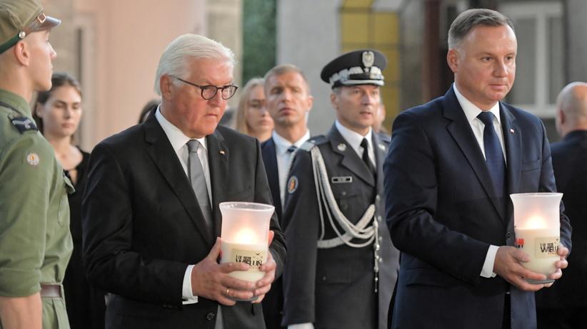 Andrzej Duda i prezydent Niemiec na Wieluniu. Uczcili pamięć ofiar II WŚ