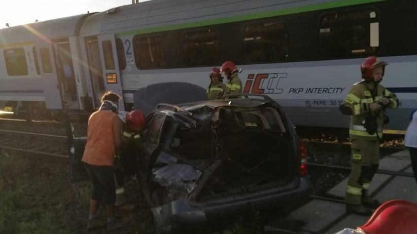 Września, wypadek na przejeździe kolejowym