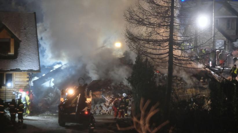 Wybuch gazu Leszczynowa w Szczyrku. Z domu nic nie zostało, siła eksplozji była ogromna