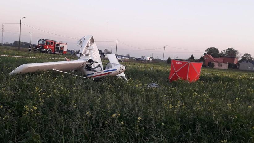Wypadek awionetki koło Przedcza w Wielkopolsce. Nie żyje pilot