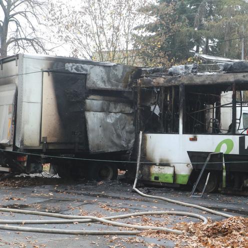Wypadek i pożar tramwaju we Wrocławiu