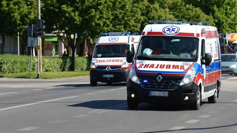 Poważny wypadek na A4. Przewrócił się autokar z Ukrainy, są ranni