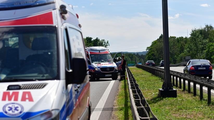 Kolejny wypadek na A6 w Szczecinie. Na miejscu śmigłowiec LPR
