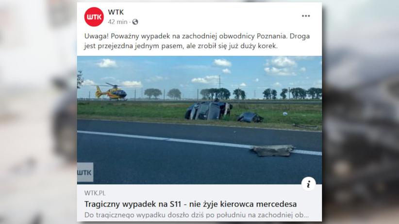 wypadek na s11