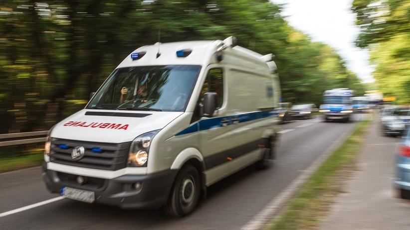 Wypadek w Tarnowskich Górach. Pijany nastolatek na czerwonym wjechał na skrzyżowanie