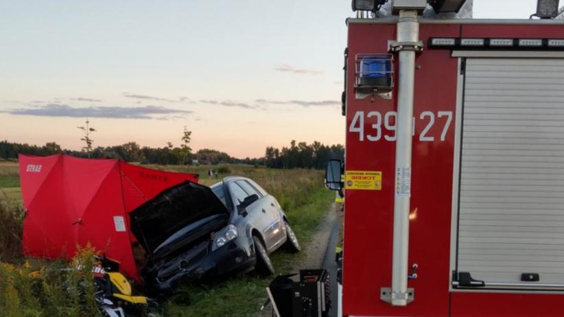 wypadek, w którym zginął motocyklista