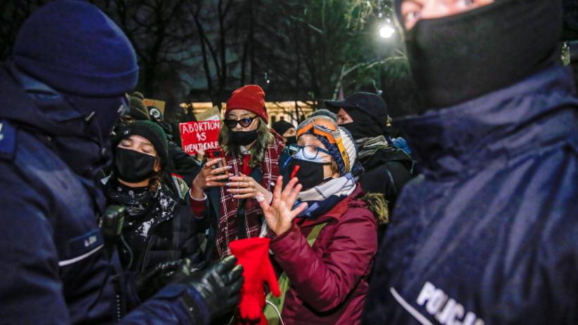 protest pod siedzibą TK