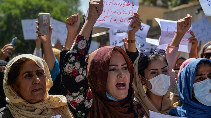 Protest w Kabulu przeciwko talibom