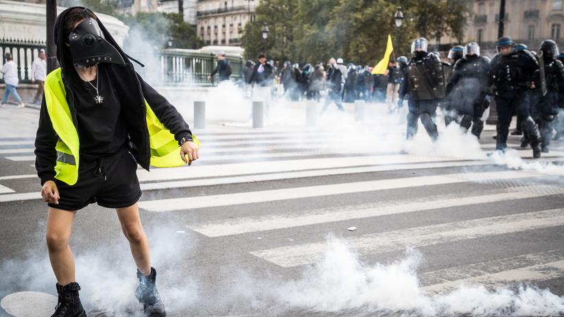 Paryż, protest antyszczepionkowców
