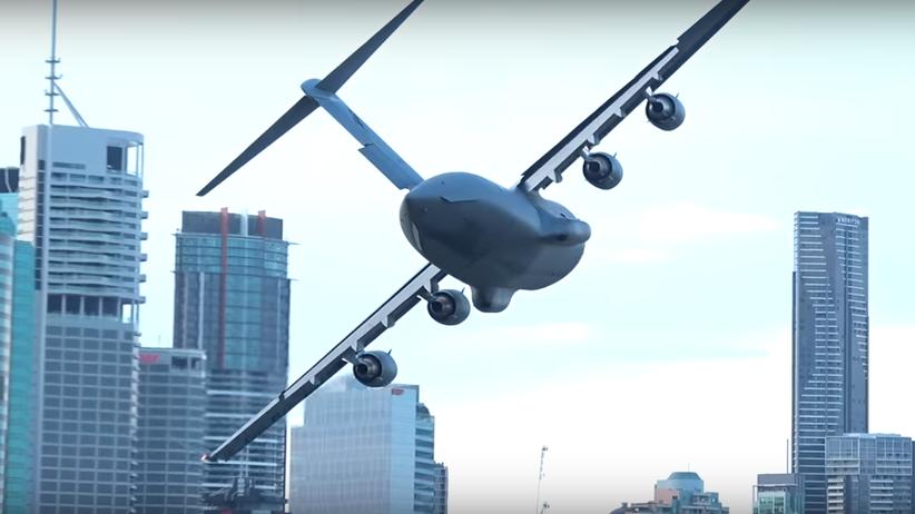 Wojskowe samoloty wśród biurowców, pełnych ludzi. Szokujące wideo obiegło sieć