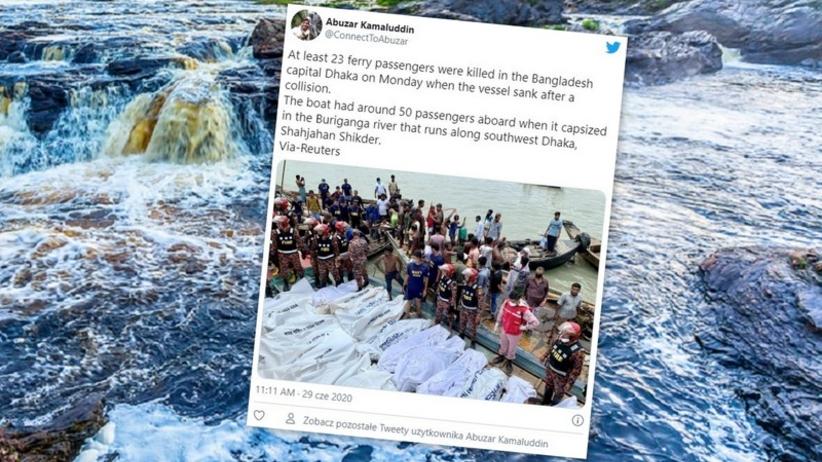 Utonięcie statku w Bangladeszu