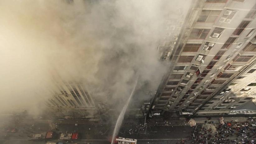 Pożar wieżowca w stolicy Bangladeszu. Ludzie wyskakiwali z okien
