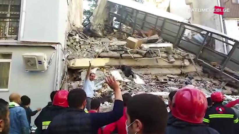 Budynek zawalił się w Batumi