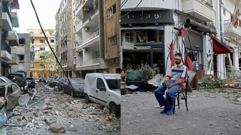 Bejrut wybuch. Zniszczenia w mieście