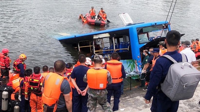 Wypadek autobusu w Chinach