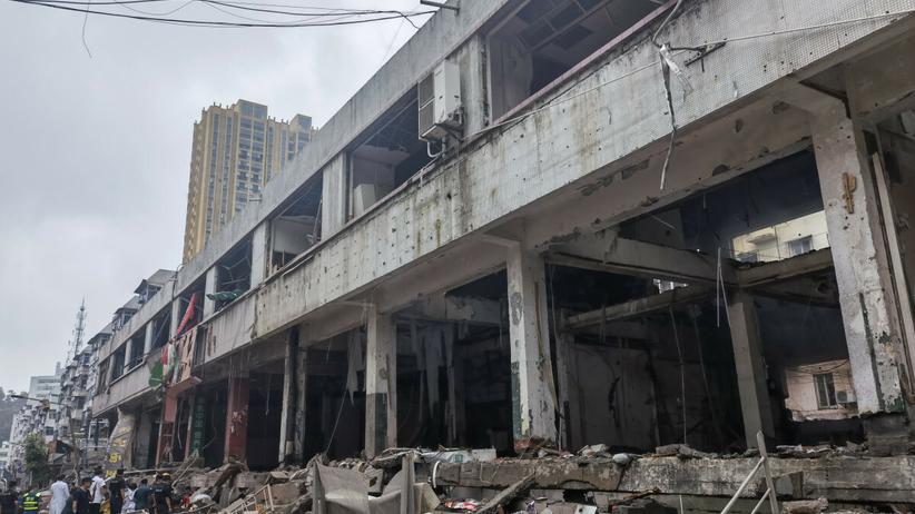 Wybuch gazu na osiedlu mieszkaniowym w Chinach.