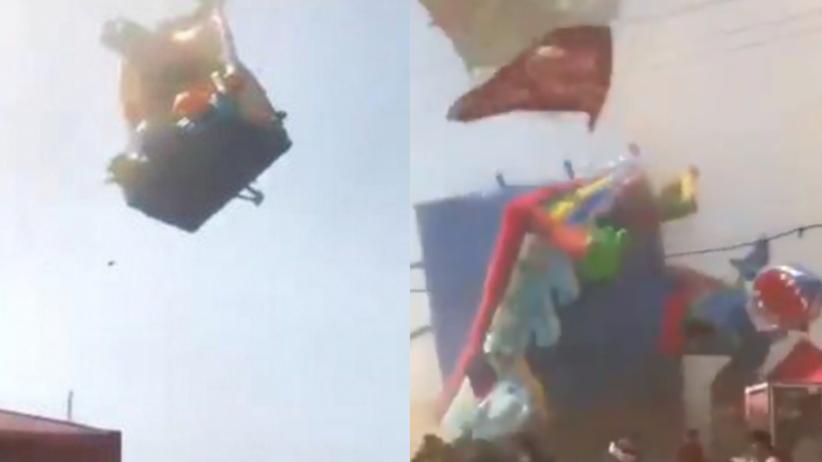 Tornado porwało dmuchany zamek. Nie żyje dwoje dzieci