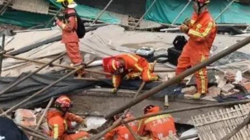 Zawalił się budynek w Szanghaju. Ludzie uwięzieni pod gruzami