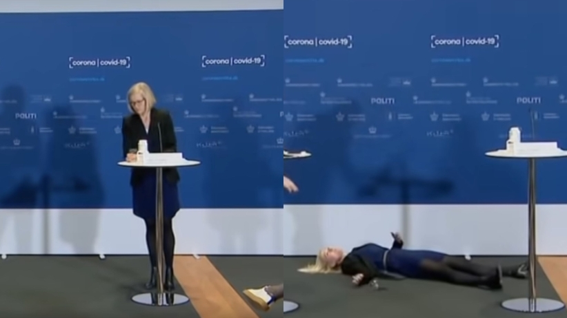 zemdlała podczas konferencji