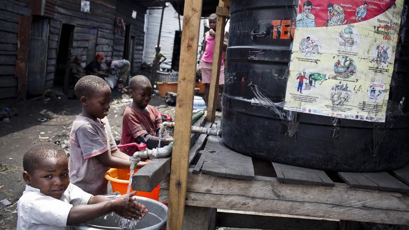 DRK epidemia odry, dzieci