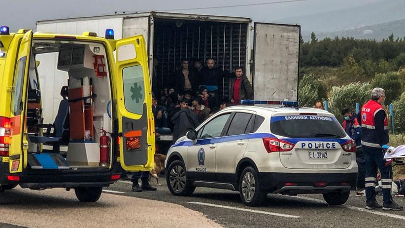 Migranci Grecja