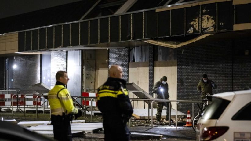 wybuch w polskim sklepie w Holandii