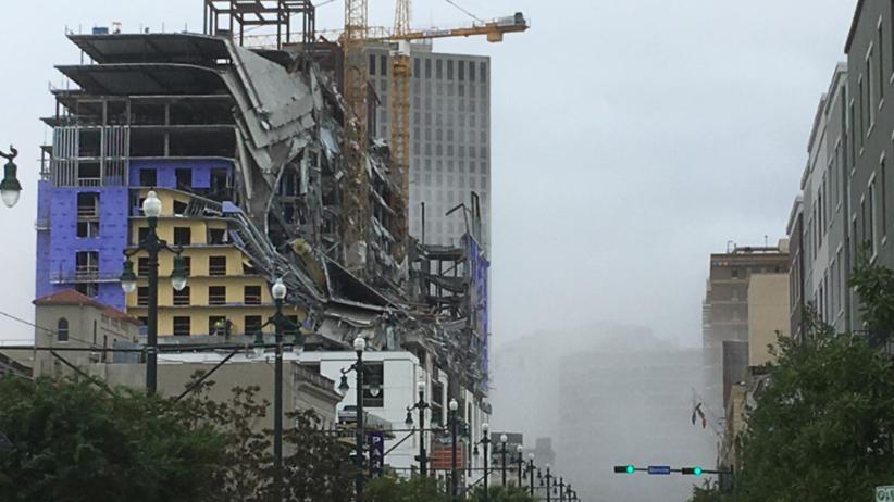 Hotel Hard Rock Casino zawalił się w Nowym Orleanie. Są ranni