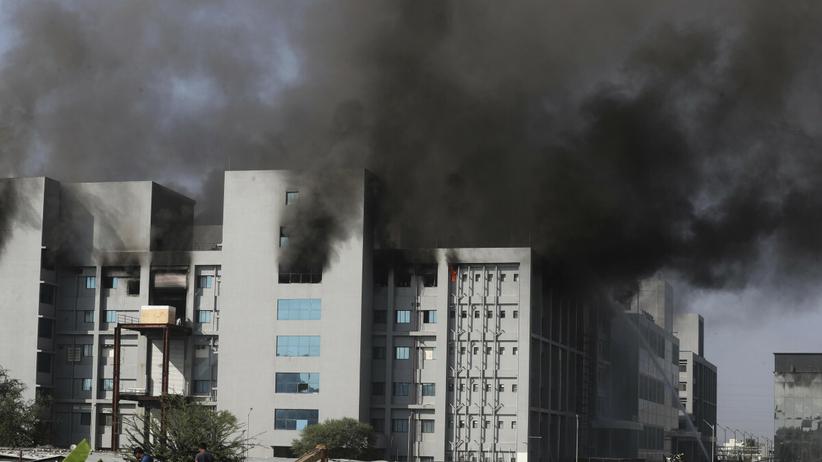 Pożar fabryki szczepionek