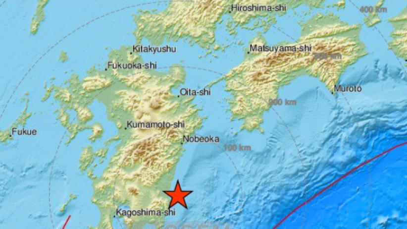 Trzęsienie ziemi na wyspie Kiusiu w Japonii