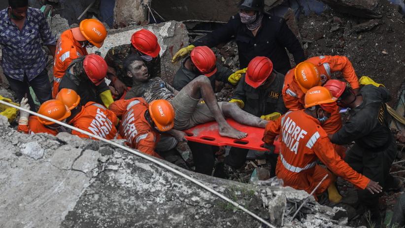 Katastrofa budowlana w Bhiwandi w Indiach