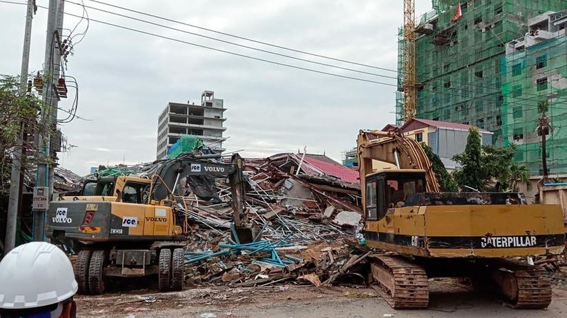 Katastrofa budowlana w kurorcie w Kambodży. Zawalił się budynek