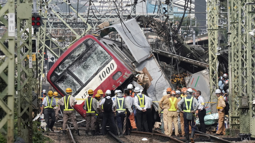Katastrofa kolejowa w Japonii. Dziesiątki rannych
