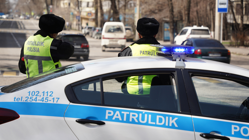 Policja w Kazachstanie