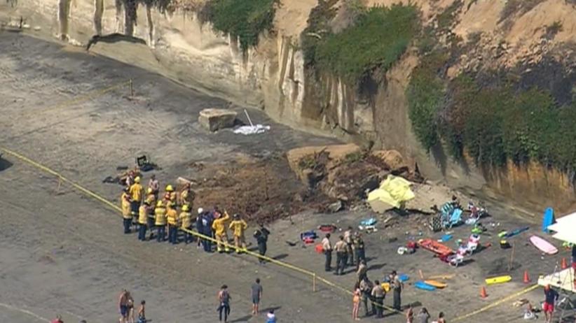 Klif osunął się na plażowiczów w Kalifornii w USA. Nie żyją trzy osoby