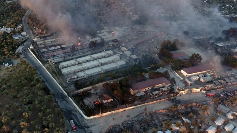pożar obozu Moria na Lesbos