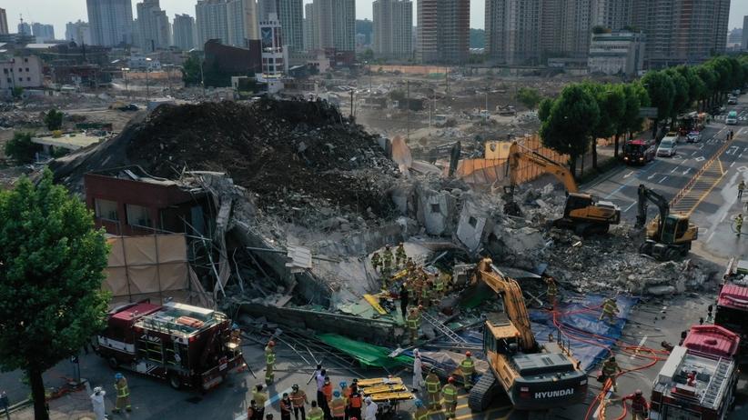 Korea Płd. Zawalił się budynek, zginęło 9 osób