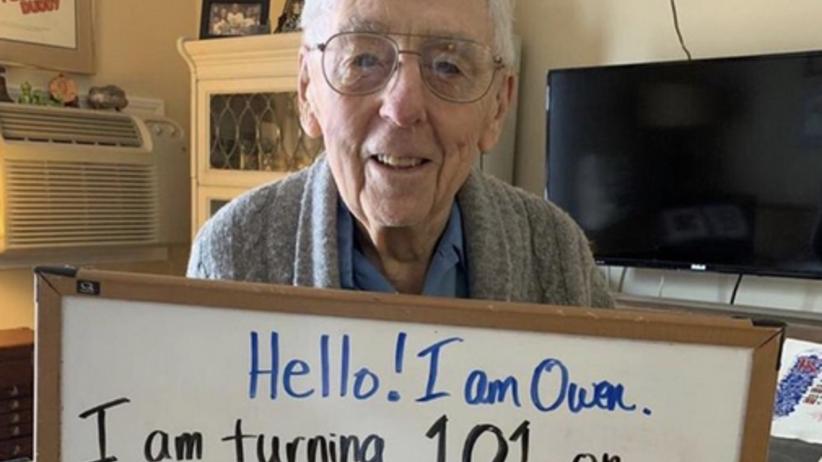 101-latek nie może wyprawić urodzin przez koronawirusa. Jest gorąca prośba