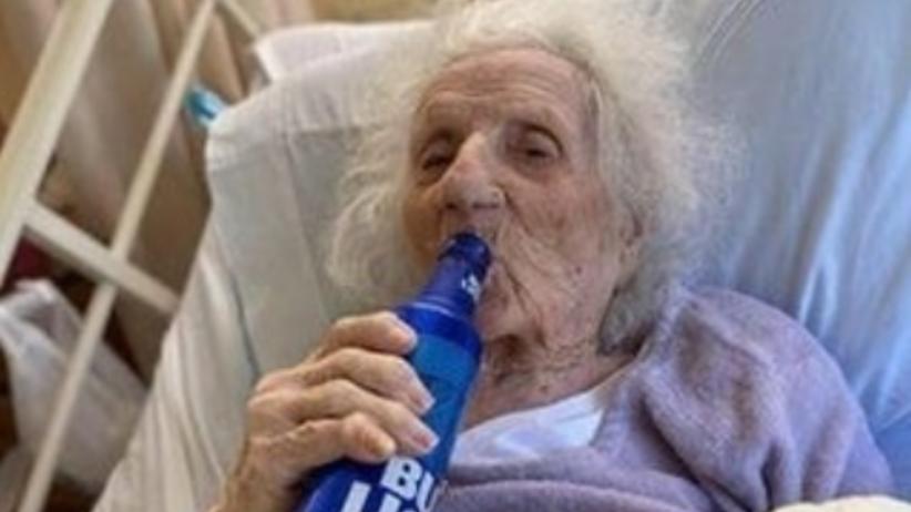 103-latka z polskimi korzeniami wygrała z Covid-19. Zwycięstwo uczciła...piwem