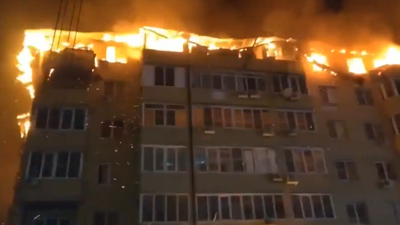 Krasnodar. Pożar bloku
