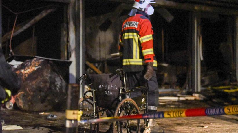 pożar szpitala dla chorych na covid