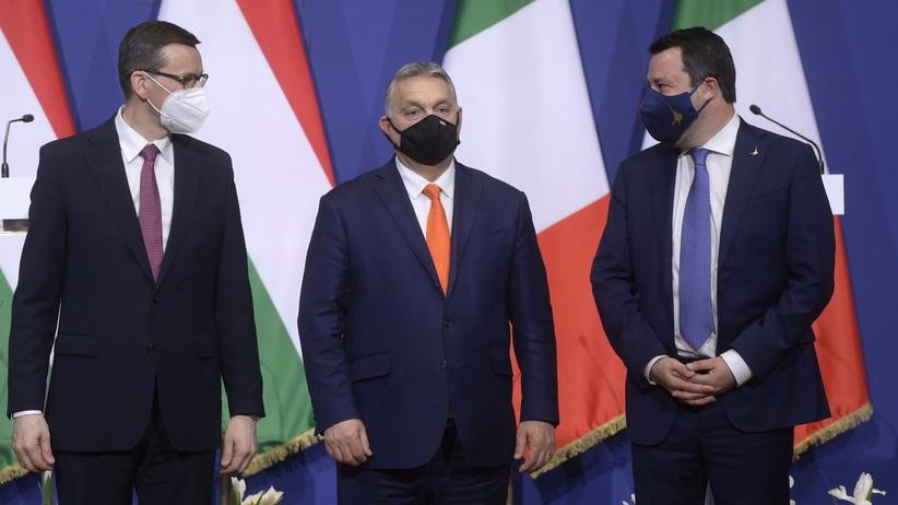 Mateusz Morawiecki po spotkaniu z Orbanem i Salvinim