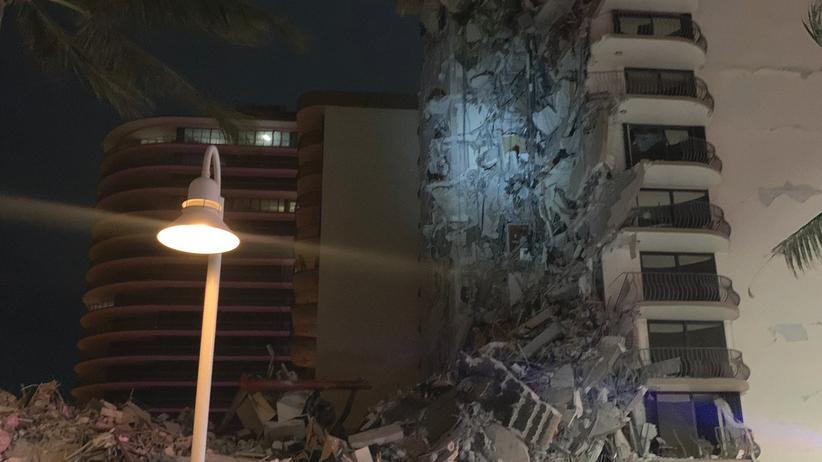 zawalił się budynek w Miami