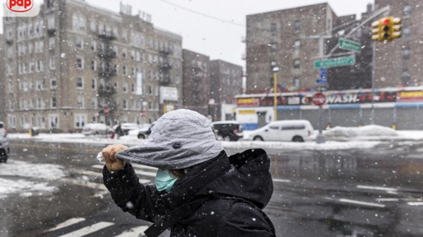 Burza śnieżna w Nowym Jorku