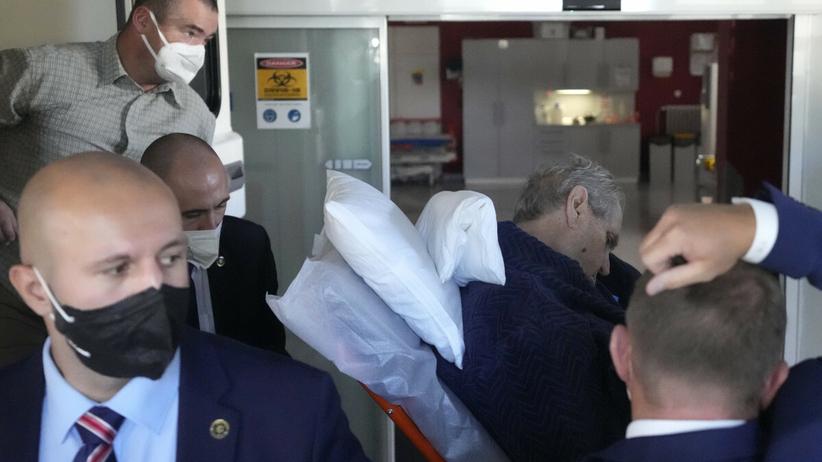 Milos Zeman trafił do szpitala