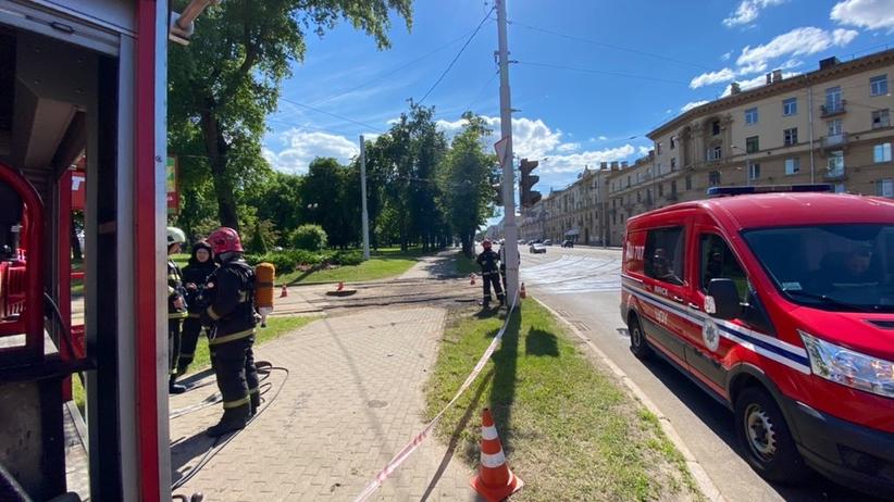 wybuch w Mińsku
