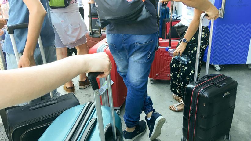 Monachium szkielet w bagażu