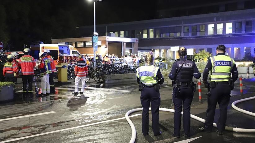 Tragiczny pożar szpitala. Jedna osoba nie żyje, kilkanaście jest rannych