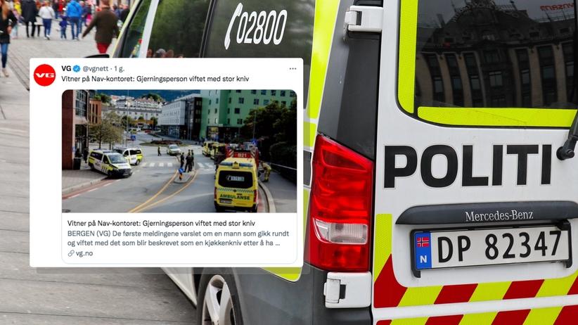 Atak nożownika w Bergen