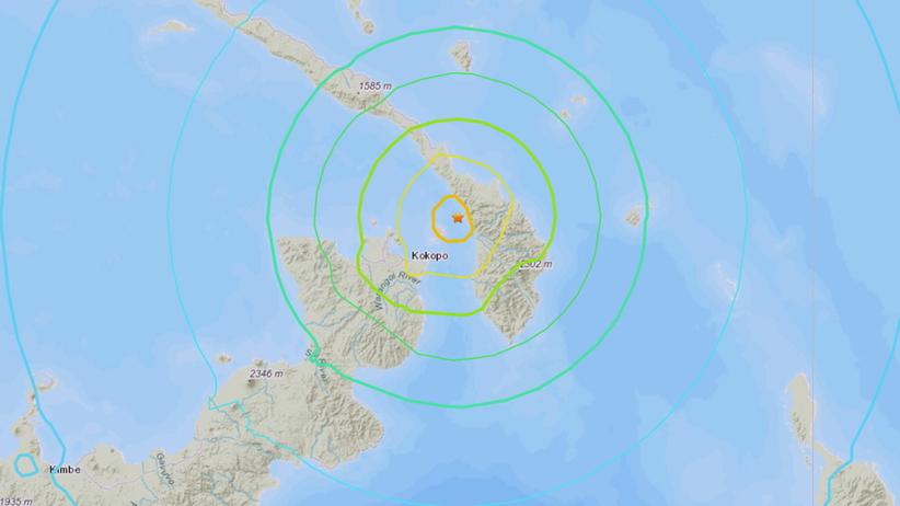 Potężne trzęsienie ziemi w Papui Nowej Gwinei