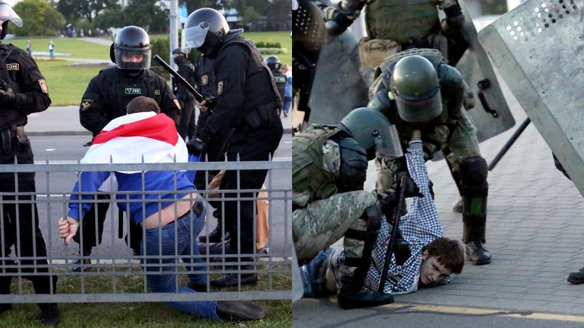 Białoruś, protesty w dzień zaprzysiężenia prezydenta